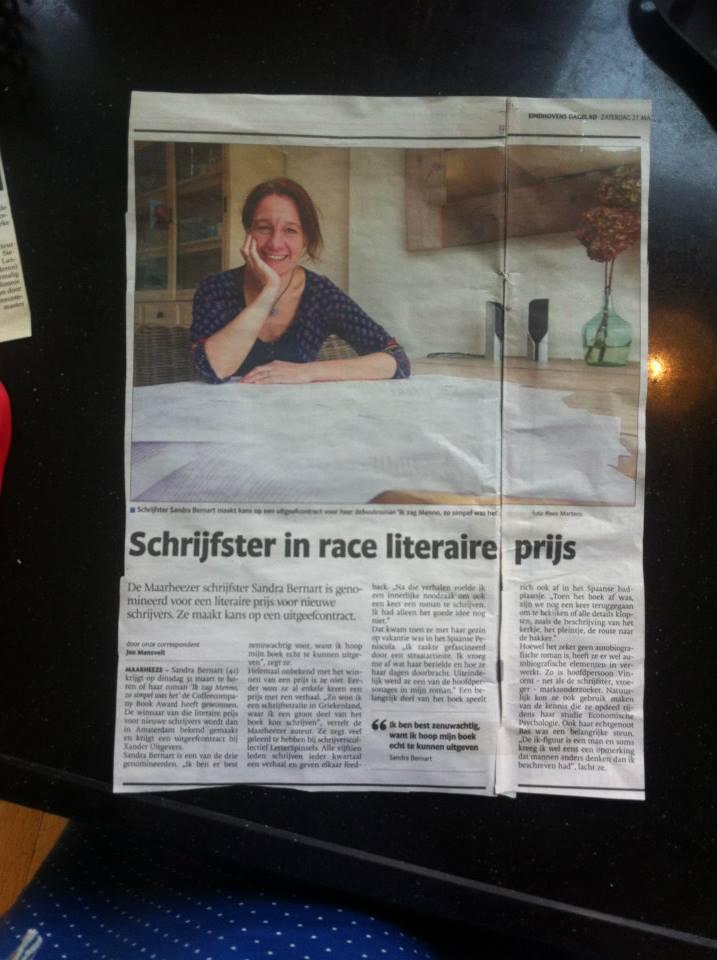 Eindhovens Dagblad: Schrijfster Maarheeze in race voor literaire prijs