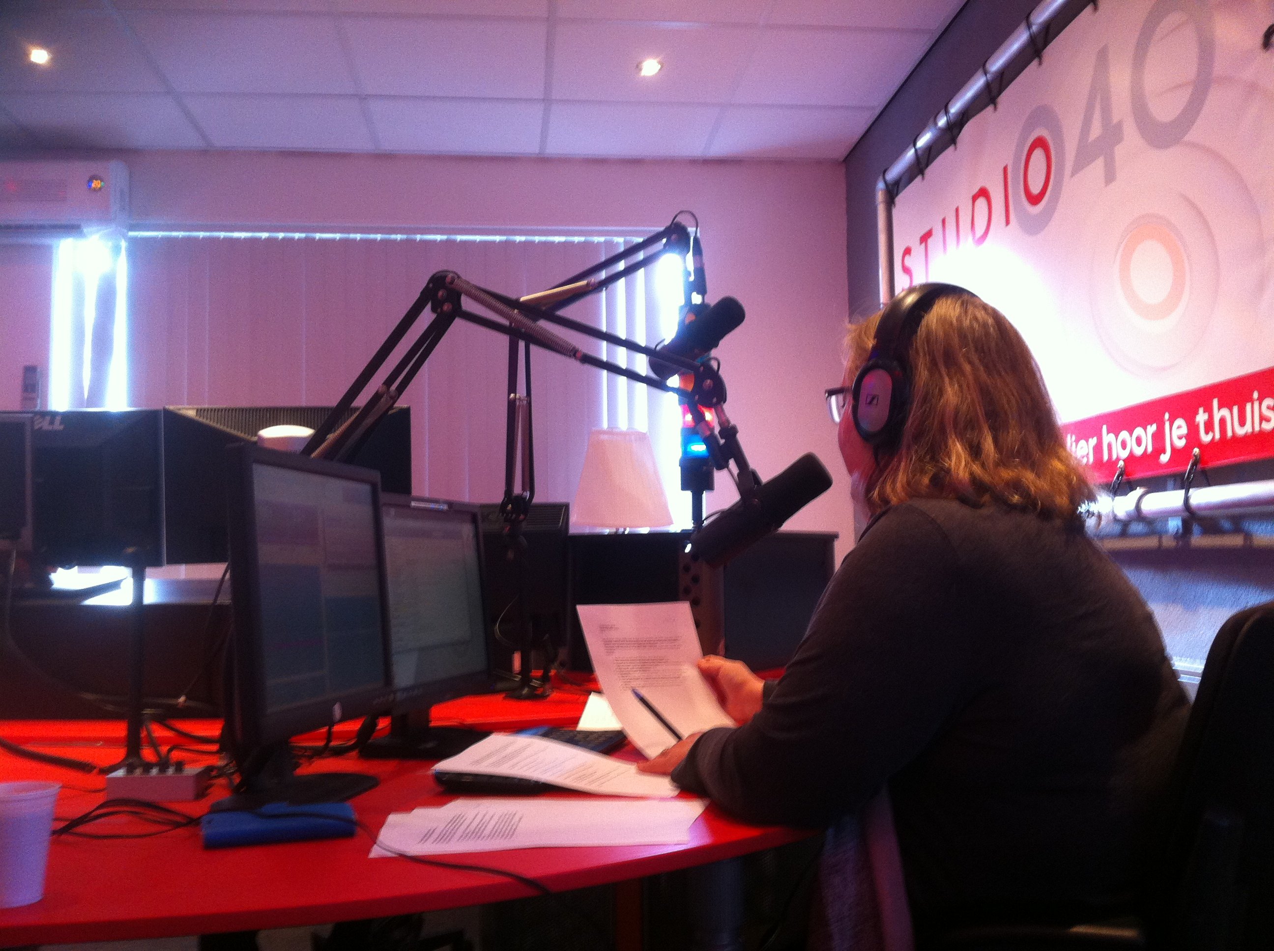 Zondag12 november interview bij Lichtstad Live, Studio 040